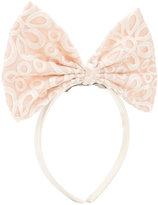 Hucklebones London giant bow hairband