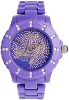 Lipsy Purple Bracelet Wtith Scattered Glitter Logo