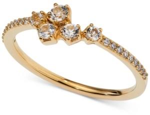 AVA NADRI 18k Gold-Plated Cubic Zirconia Cluster Ring