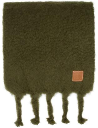 Loewe Green Mohair Scarf