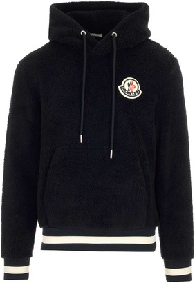 Moncler Teddy Logo Patch Hoodie