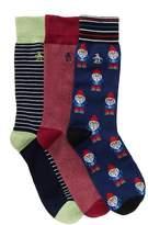 Original Penguin Assorted Crew Socks Box Set - Pack of 3