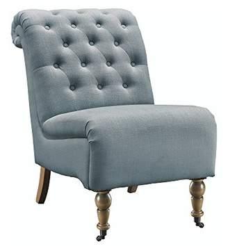 Linon Amzn0250 Millie Blue Tufted Chair