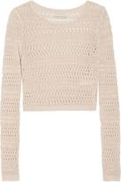 Alice + Olivia Irving Open-Knit Linen Sweater
