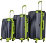 Brio Luggage #808 Navy 2-Tone 3-piece Hardside Spinner Luggage Set