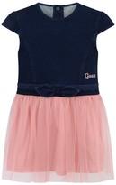 GUESS Blue Fleece Denim & Pink Tulle Dress