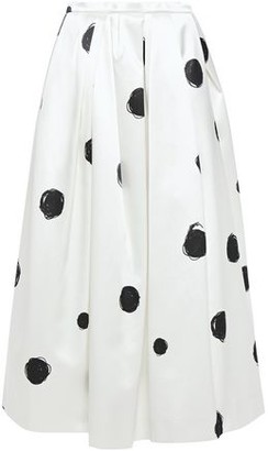 Christopher Kane Flared Polka-dot Cotton-blend Satin Midi Skirt