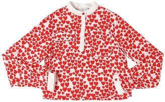 Stella McCartney Heart Print Viscose Shirt