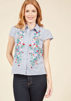 ModCloth Organized Oasis Button-Up Top in M
