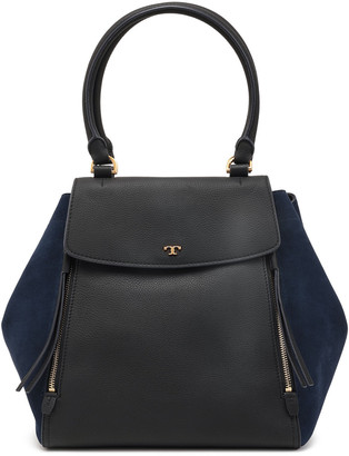 Tory Burch Textured-leather And Suede Tote