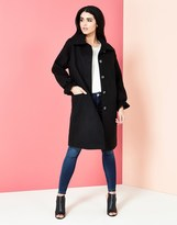 Yumi Coat With Ruffle Cuff