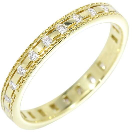 Damiani 18K Yellow Gold & Diamonds Belle Époque Ring Size 5.25
