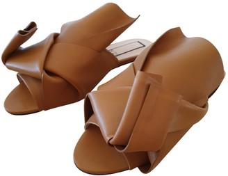 N°21 N21 Camel Leather Sandals