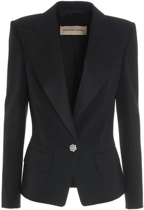 Alexandre Vauthier Jewel Button Tuxedo Blazer