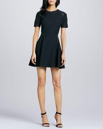 Elizabeth and James Rinah Leather-Trim Dress (Stylist Pick!)