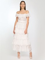 Thumbnail for your product : ZUHAIR MURAD Cotton Lace Midi Dress