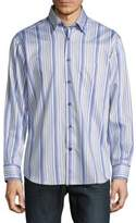 Robert Talbott Casual Striped Cotton Sportshirt