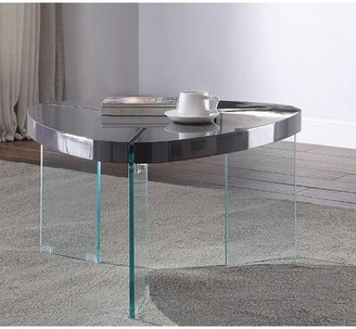 Ivy Bronx Kleiman 3 Legs Coffee Table Table Top Color: Black
