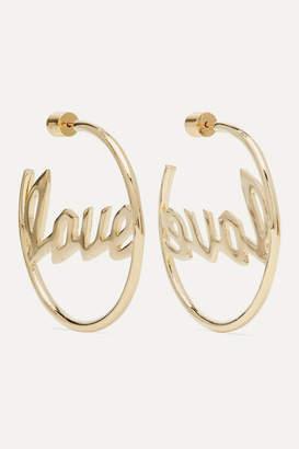 Jennifer Fisher Love Gold-plated Hoop Earrings