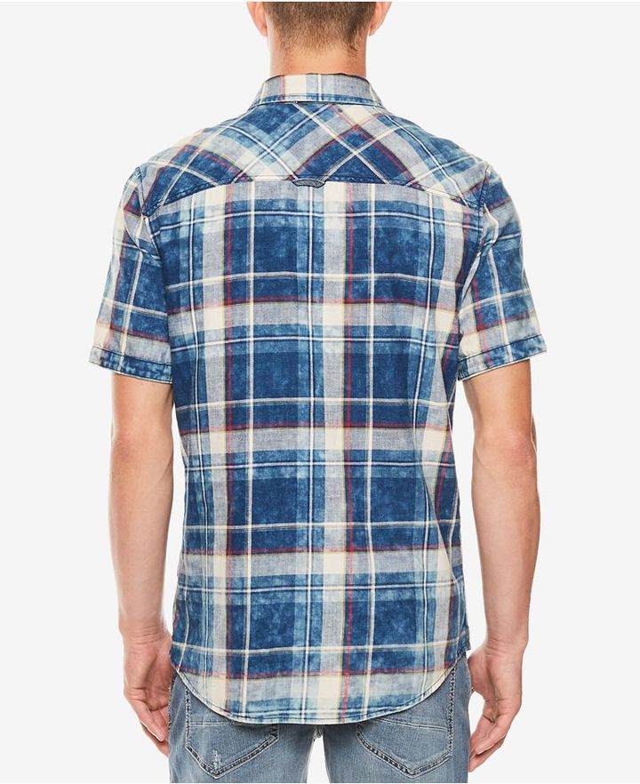 Buffalo David Bitton Men's Saugo- X Denim-Pocket Plaid Shirt