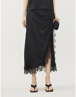 Vanessa Cocchiaro Aphra lace-trim high-waist woven skirt