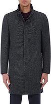 Theory Men's Flannel Belvin Coat-NAVY