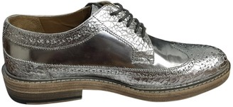 Marc Jacobs Silver Leather Lace ups
