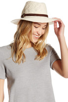 Collection XIIX Faux Suede Banded Solid Panama Hat