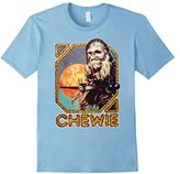 Star Wars Chewie Chewbacca Wookiee Old Sparkle Print T-Shirt