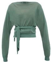 Lemaire Tie-waist Wrap Sweater - Womens - Green