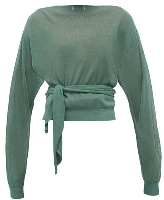 Lemaire Tie-waist Wrap Sweater - Green