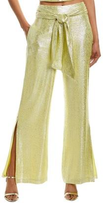 ML Monique Lhuillier Silk-Blend Sash Pant