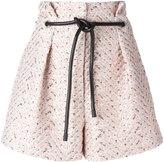 3.1 Phillip Lim origami pleat cloqué shorts - women - Cotton/Polyester/Polyurethane - 2