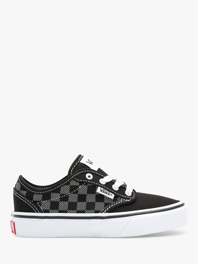 Vans Children's Atwood Canvas Trainers, Check Black