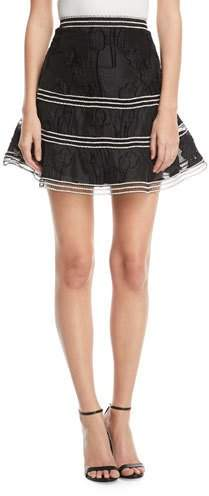 Alexis Kamryn Embroidered Flared Skirt