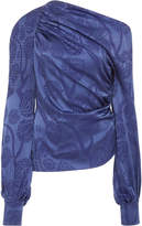 Peter Pilotto Satin Jacquard Asymmetric Blouse