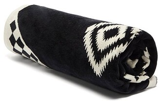 Pendleton Los Ojos Jacquard-pattern Cotton Beach Towel - Black