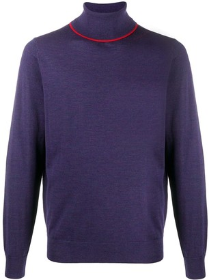 Paul Smith Roll Neck Contrast Trim Jumper
