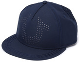 True Religion True Navy Laser Perforated Flat Peak Cap