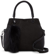 Vince Camuto Elva Leather & Genuine Fox Fur Satchel