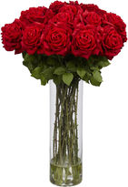 Asstd National Brand Nearly Natural Giant Rose Silk Flower Arrangement