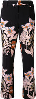 L'Autre Chose floral print cropped trousers - women - Polyester/Spandex/Elastane - 40