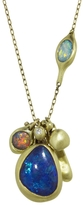 Ten Thousand Things Lightning Ridge Opal Cluster Necklace - Yellow Gold