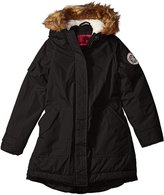Weatherproof Big Girls' Insulated Wind Resistant and Water Repellant Parka