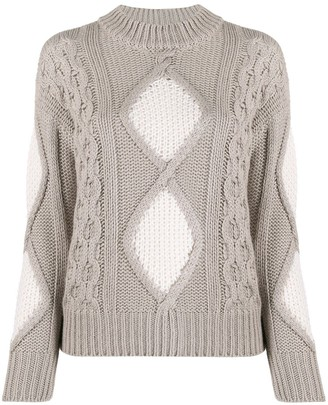 Lorena Antoniazzi Mixed Knit Jumper