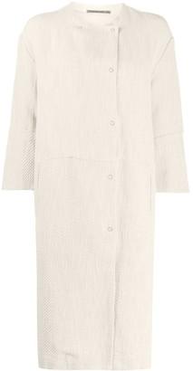 Transit Collarless Midi Coat