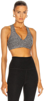 Beyond Yoga Spacedye Lift Your Spirits Bra in Black & White | FWRD