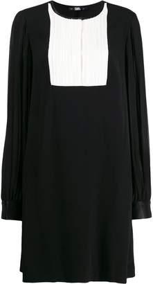 Karl Lagerfeld Paris pleated sleeve dress