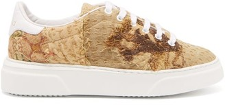 By Walid 17th-century Tapestry Low-top Trainers - Beige Multi
