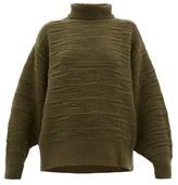 The Row Pheliana Wool-blend Boucle-effect Sweater - Womens - Khaki